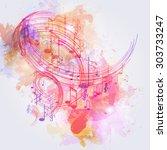 Illustration Abstract Music...