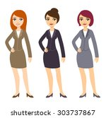 three cartoon young...   Shutterstock . vector #303737867