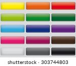 set of rectangular web push... | Shutterstock .eps vector #303744803