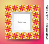 picture frame isolated on... | Shutterstock .eps vector #303756557