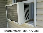 window air conditioner unit... | Shutterstock . vector #303777983
