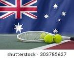 australian open tennis concept... | Shutterstock . vector #303785627