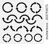 arrow  icon set | Shutterstock .eps vector #303793073
