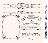 frame card design  vector... | Shutterstock .eps vector #303799757