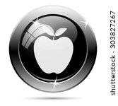 apple icon. internet button on... | Shutterstock .eps vector #303827267