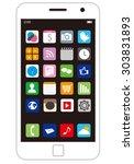 smart phone vector | Shutterstock .eps vector #303831893