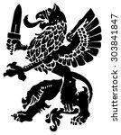 heraldic griffin | Shutterstock .eps vector #303841847