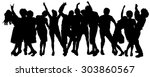 vector silhouette of a group of ... | Shutterstock .eps vector #303860567