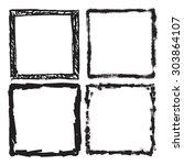 grunge frame texture set  ...   Shutterstock .eps vector #303864107
