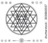 set of geometric shapes. trendy ... | Shutterstock .eps vector #303883037
