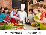 cooking class  culinary  food...   Shutterstock . vector #303888503