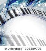 music background. vector | Shutterstock .eps vector #303889703