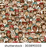 winter people   seamless... | Shutterstock .eps vector #303890333