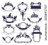 halloween labels collection.... | Shutterstock .eps vector #303891707