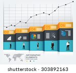 business concept template for... | Shutterstock .eps vector #303892163