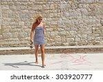 blonde | Shutterstock . vector #303920777