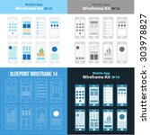 mobile app wireframe ui kit 14...