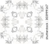 circular   pattern of floral ... | Shutterstock .eps vector #303999167