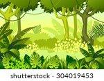 wild wood. jungle. vector...