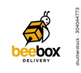 delivery logo template | Shutterstock .eps vector #304044773