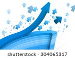 abstract business arrow... | Shutterstock . vector #304065317