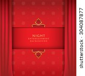 night entertainment stage | Shutterstock .eps vector #304087877
