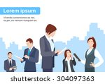 business people group using...   Shutterstock .eps vector #304097363