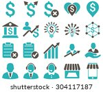 trade business and bank service ... | Shutterstock .eps vector #304117187