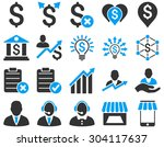 trade business and bank service ... | Shutterstock .eps vector #304117637