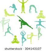 yoga circle | Shutterstock .eps vector #304143107