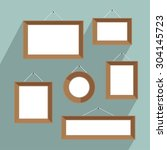 empty picture frames for your... | Shutterstock .eps vector #304145723