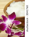bath salt in bowl and dendrobium | Shutterstock . vector #3041760