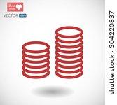 money vector icon 10 eps | Shutterstock .eps vector #304220837