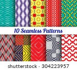 Set Of 10 Abstract Patterns....