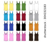 Ladies Tank Top Drawings In...