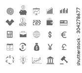 finance vector icons set | Shutterstock .eps vector #304278677