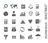 finance vector icons set | Shutterstock .eps vector #304278827