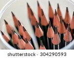 stack of sharpened pencils in... | Shutterstock . vector #304290593