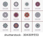 mandalas. vintage decorative... | Shutterstock .eps vector #304309553