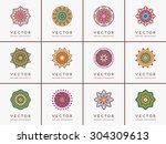 mandalas. vintage decorative... | Shutterstock .eps vector #304309613