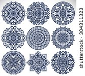 mandalas. vintage decorative... | Shutterstock .eps vector #304311323