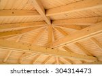 Interior Roof Beams On A Woode...