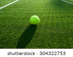 tennis ball on tennis grass... | Shutterstock . vector #304322753