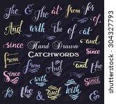 hand drawn elegant ampersands...   Shutterstock .eps vector #304327793