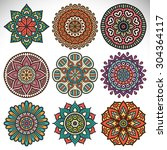 mandalas. vintage decorative...   Shutterstock .eps vector #304364117