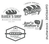 set of bakery labels. baker's...   Shutterstock .eps vector #304366493