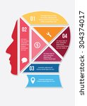 business infographic with human ... | Shutterstock .eps vector #304374017