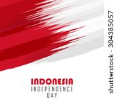 indonesia independence day... | Shutterstock .eps vector #304385057