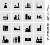 vector black factory icon set... | Shutterstock .eps vector #304397417