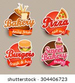 food label or sticker   bakery  ... | Shutterstock .eps vector #304406723